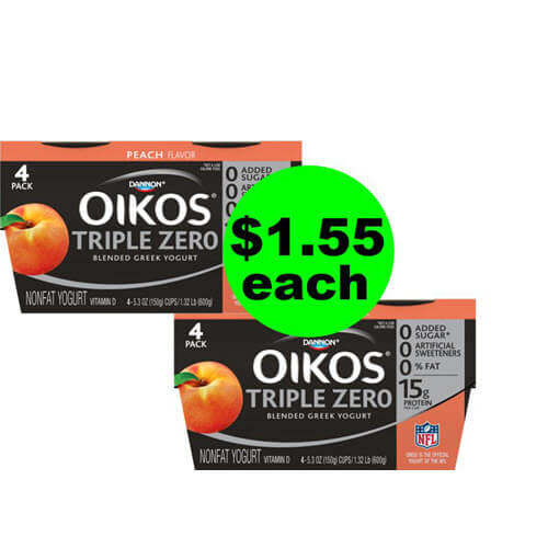 ? $1.50 Oikos Triple Zero Yogurt 4 Packs At Publix (Save 62% Off)! (6/27-7/3 or 6/28-7/4)