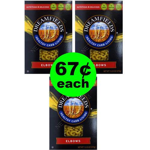 Publix Deal: 🍝 67¢ Dreamfields Low Carb Pasta! (5/11-5/24)