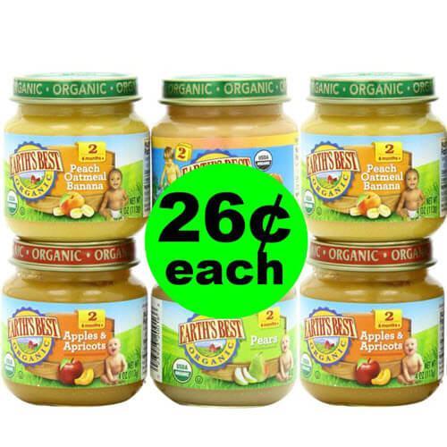 ?? 26¢ Earth's Best Organic Baby Food At Publix (Save 78% Off)! (6/20-6/26 or 6/21-6/27)