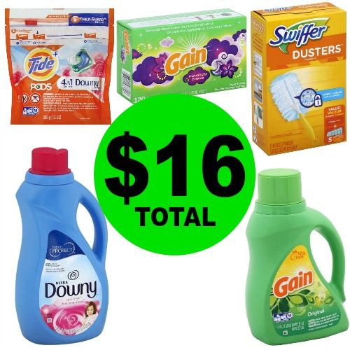"""Spend $16 For 5 Tide, Gain, Downy & Swiffer Products at Publix! """"Clip"""" Now! (6/6-6/12 or 6/7-6/13)"""