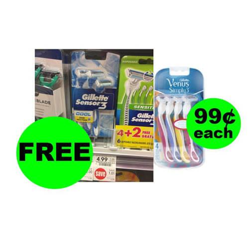 Publix Deal: 😀 (2) FREE Gillette Sensor3 Or 99¢ Venus Simply3 Disposable Razors! (9/8-9/11 or 9/12)