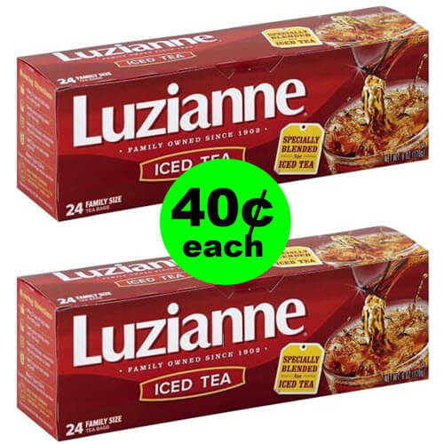Drink Up ? 40¢ Luzianne Family Size Tea Bags At Publix! (6/23-7/6)