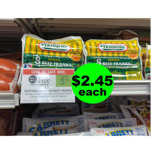 (NLA) ? $2.45 Nathan's Beef Franks At Publix! (Ends 7/3 Or 7/4)