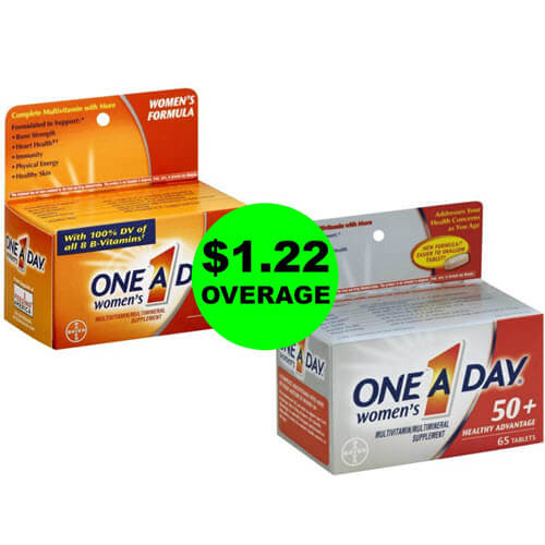 (2) FREE + $1.22 Money Maker On One A Day Vitamins at Publix! (6/16-6/19 or 6/20)