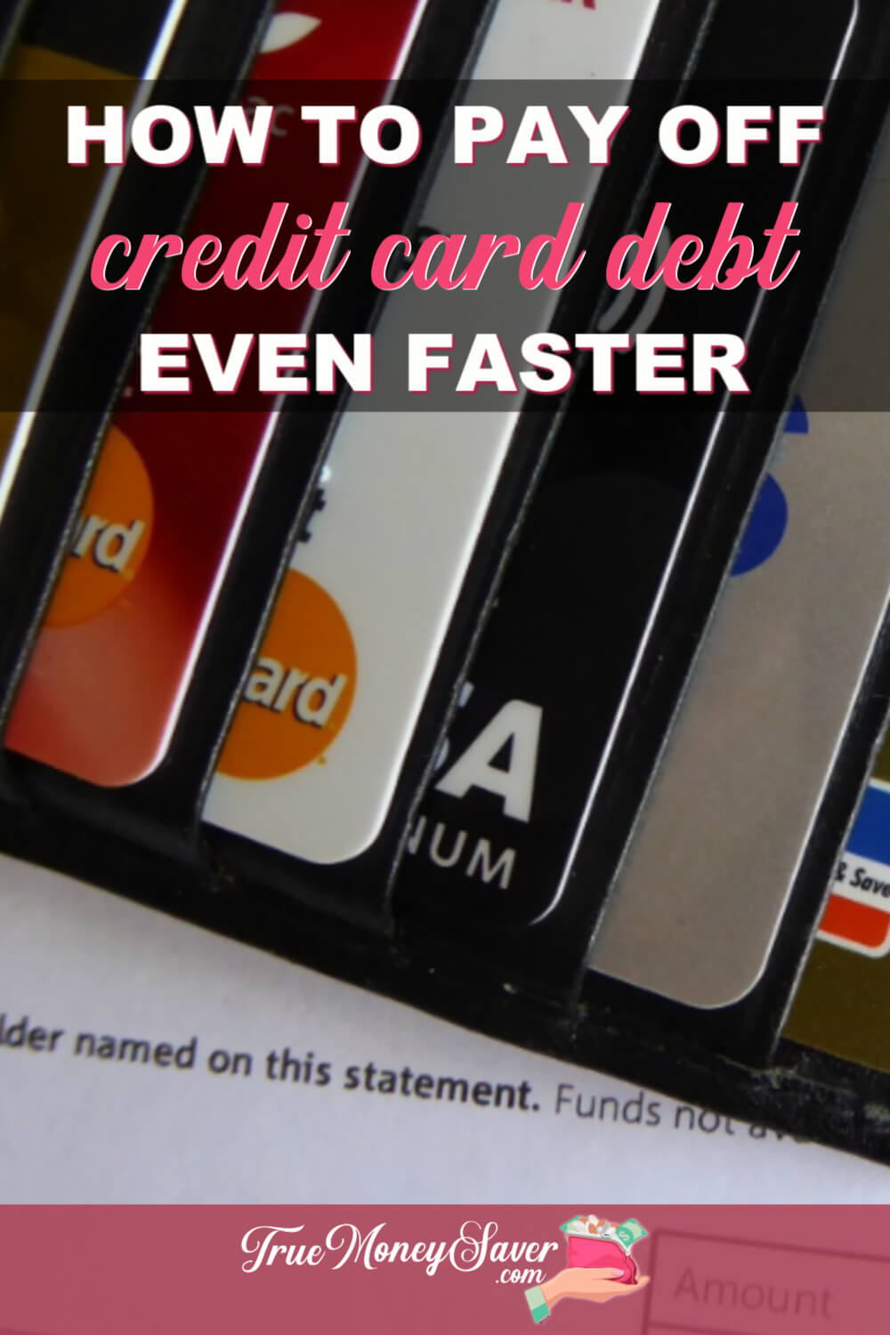 Do you feel like you're drowning in debt? You can actually pay off your debt faster than you think. Start now with these tips! #truecouponing #debtfree #debtfreecommunity #debtfreejourney #debt