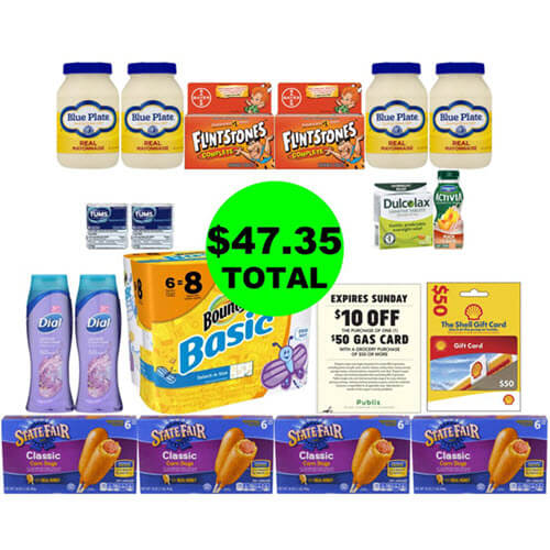 ? For Just $47.35, Get 17 Products And A $50 Gas Card ⛽ At Publix! (6/20 or 6/21-6/24)