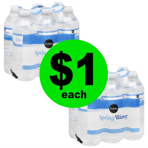 💦Publix Spring Water 6 Packs Are $1! No Coupon Needed! (Ends 6/5 Or 6/6)