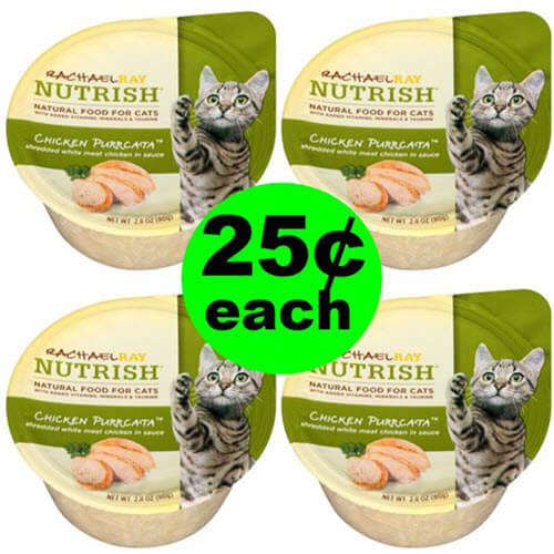 Publix Deal: $.25 Rachael Ray Nutrish Wet Cat Food! (6/26-7/9 Or 6/27-7/10)