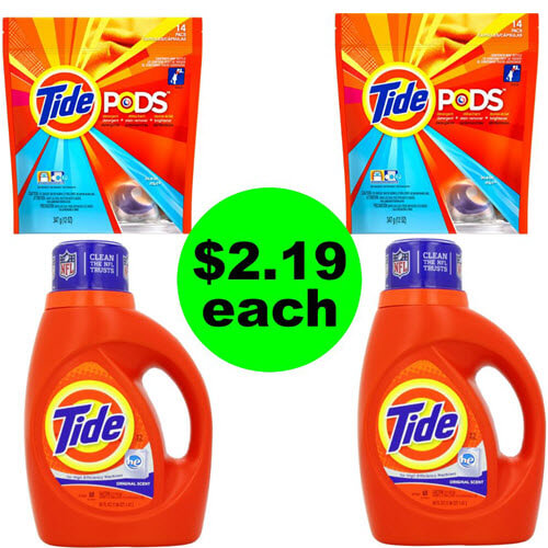 👕 Stock Up On $2.19 Tide Detergent & Pods At CVS! (6/17-6/23)