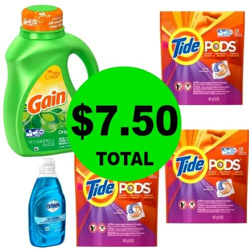 👕Your Tide, Gain & Dawn Stock Up Deal Is Here! Only $7.50 Total For All 5 Items At CVS! (6/3-6/9)