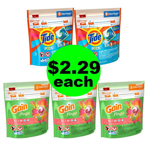 Laundry Stock Up ? $2.29 Tide Pods & Gain Flings At Publix! (7/1-7/7)
