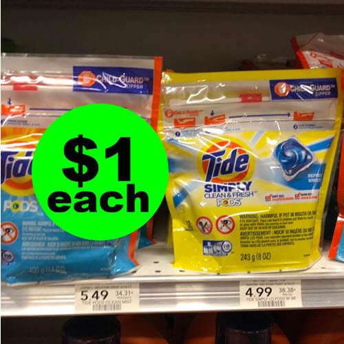 Publix Deal: $1 Tide Simply Pods! ? (10/31-11/6 or 11/1-11/7)