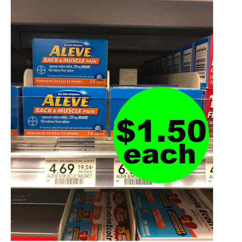 Publix Deal: 🤸 $1.50 Aleve Back & Muscle Pain Reliever! (Ends 9/25 or 9/26)