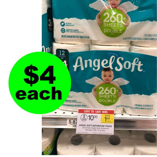 Publix Deal: 🚻 $4 Angel Soft Bath Tissue Double Roll 12 Packs! (5/29-6/4 or 5/30-6/5)