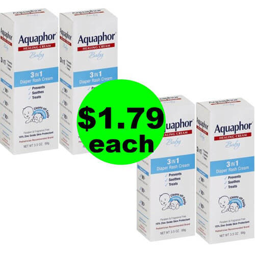 ?? $1.79 Aquaphor Baby 3in1 Diaper Rash Cream At Publix (Save 66% Off)!