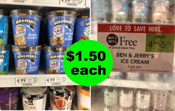 Ben & Jerry's $1.50 Ice Cream Deal Is Back At Publix! Starts 8/1 or 8/2!