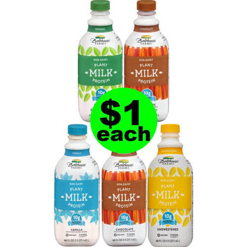 Publix Deal: $1 Bolthouse Farms Non-Dairy Milk ? (Save 80% Off After Ibotta)! (One Day Only – 9/5 or 9/6)