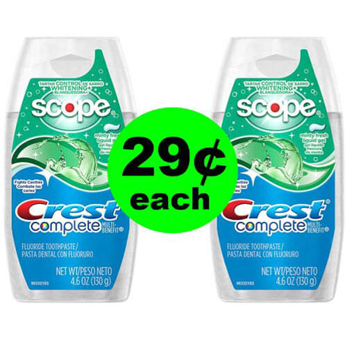 Have Sparkly Teeth With $.29 Crest Complete At CVS! 😁 (7/8-7/14)
