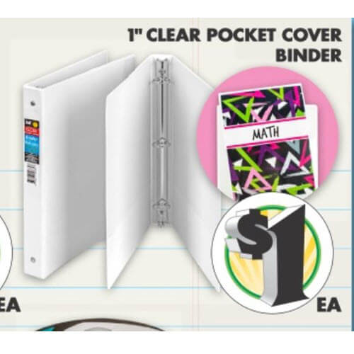 BTS Deal: $1 Clear Pocket Cover Binders at Dollar Tree! 💯