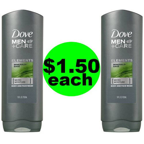 $1.50 Dove Men+Care Body Wash 🛁 At Publix (Save 70% Off)! (Ends 7/27)