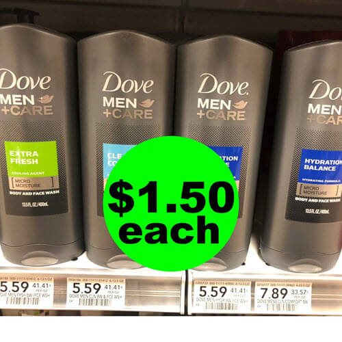 Publix Deal: $1.50 Dove Men+Care Body Wash ? (Save 73% Off, After Ibotta)! (Ends 9/21)