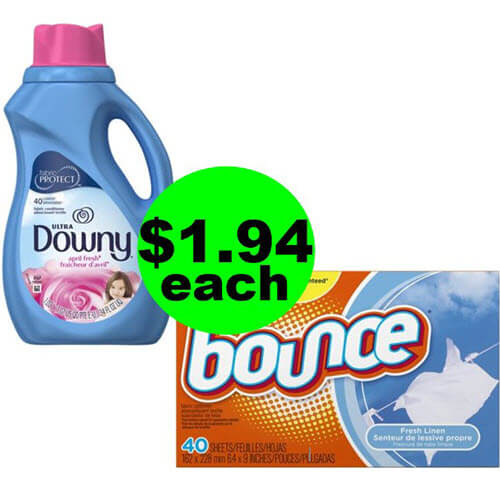 🛒 $1.94 Downy Softener or Bounce Sheets At CVS! (Ends 7/21)