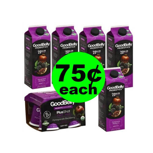 Publix Deal: 🥤 75¢ GoodBelly Probiotics Drinks (Save 83% Off)! (3/6-3/12 Or 3/7-3/13)