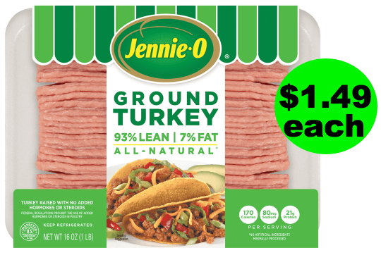 Sneak Peek Deal: Only $1.50 For Jennie-O Ground Turkey At Publix! Starts 8/1 or 8/2!