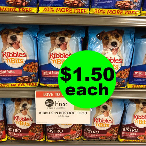 Publix Deal: $1.50 Kibbles 'N Bits Dog Food (Save 70% Off)! (6/30-7/9 Or 7/10)