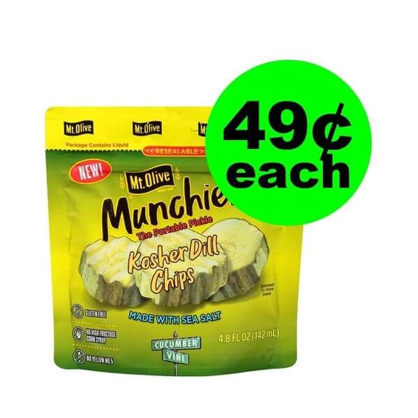"Publix Deal: ""Clip"" For $.49 Mt. Olive Munchies Pickle Pouches!"