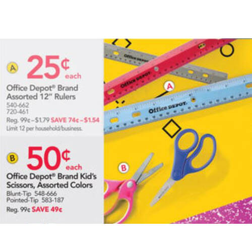 50¢ Kids' Scissors! ✂️ Office Depot/OfficeMax Back To School Deals (7/15-7/21)