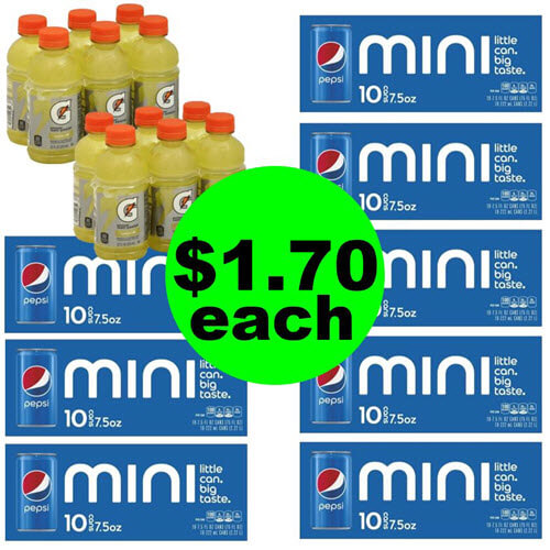 Publix Deal: 😄 $1.70 Pepsi Mini 10 Packs & Gatorade 6 Packs! (9/16-9/18 or 9/19)