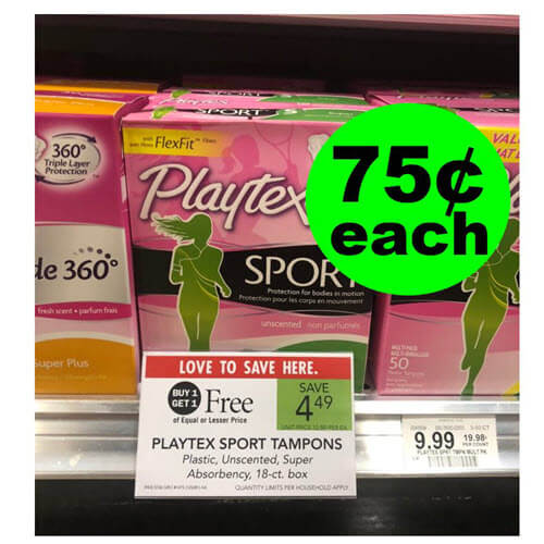 ?‍♀️ Last Chance To Get Your 75¢ Playtex Tampons At Publix! (Ends 7/31 or 8/1)