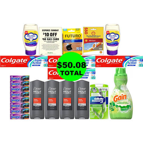 For Just $50.08, Get 21 Products And A $50 Gas Card ⛽ At Publix! (7/18 or 7/19-7/22)