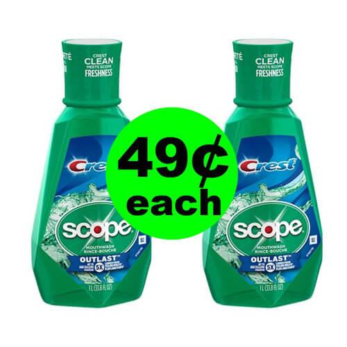 CVS Deal: 😘 FREE Scope 1 Liter Bottle (Or 2 For $.49 Each)! (9/9-9/15)