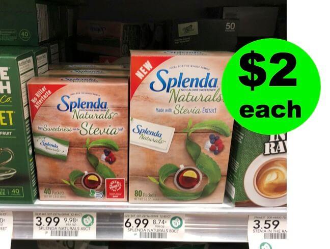 Splenda Naturals BIG Box Only $2 Each (Reg. $7!) At Publix! (7/11 – 7/17 or 7/12-7/18