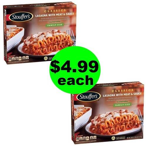 $4.99 Stouffer's Family Size Lasagna 🍴 At Publix! (Ends 7/24 or 7/25)