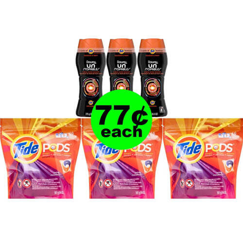 Upgrade Your Laundry 🧦 77¢ Tide Pods Plus Downy Unstopables At CVS! (7/15-7/21)