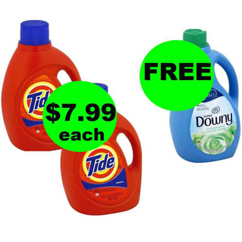 Laundry Stock Up ? $7.99 Tide 100 Oz Jugs & FREE Downy Softener At Publix! (7/4 or 7/5-7/7)