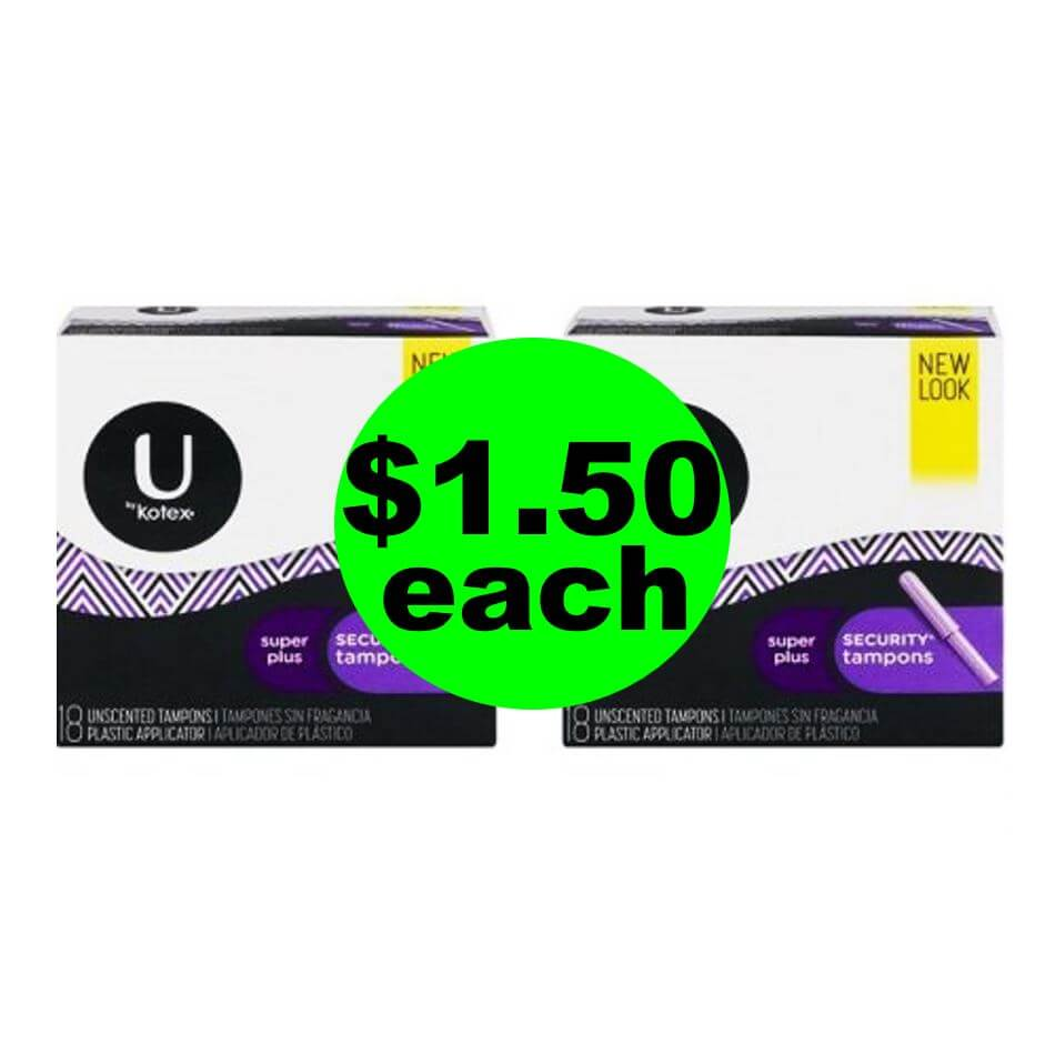 CVS Deal: 🤗 $1.50 U by Kotex Products! (8/12-8/18)