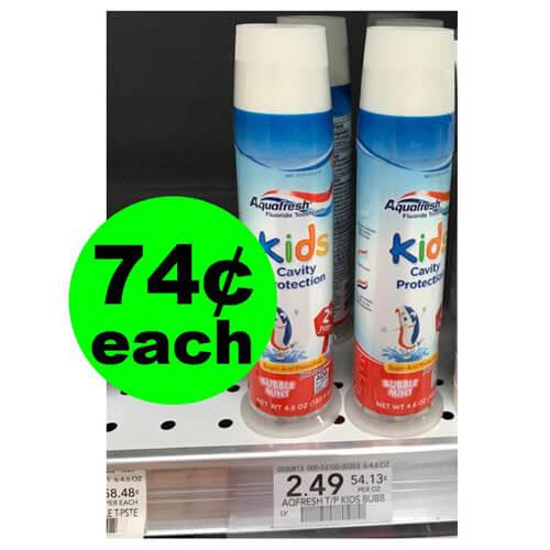 Publix Deal: ?74¢ Aquafresh Kids Cavity Protection Toothpaste! (Ends 9/2)