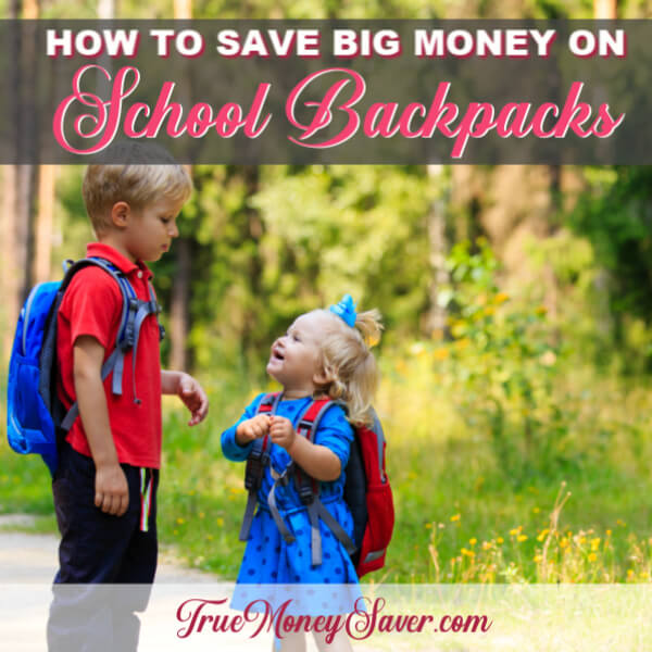 Five Ways to Save Money On a Backpack {Without Disappointing Your Child!}