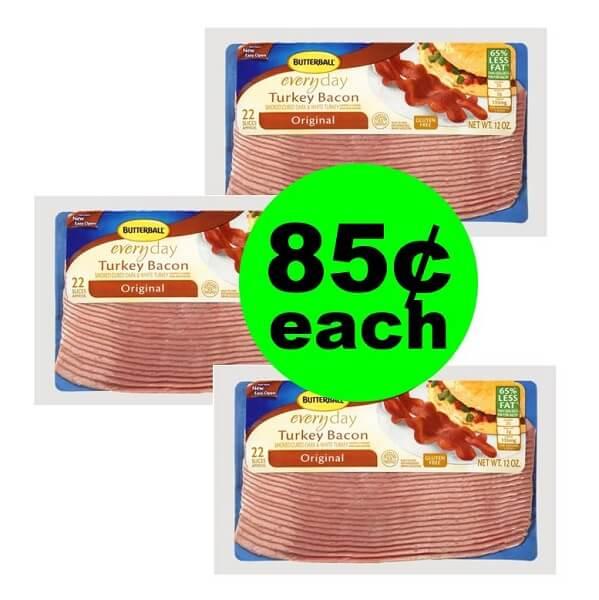 Publix Deal: 🥓 85¢ Butterball Turkey Bacon (After Ibotta)! (2/16-3/1)