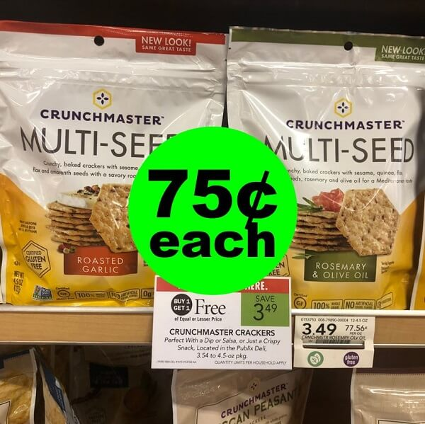 Publix Deal: 🧀 75¢ Crunchmaster Crackers! (4/24-4/30 Or 4/25-5/1)
