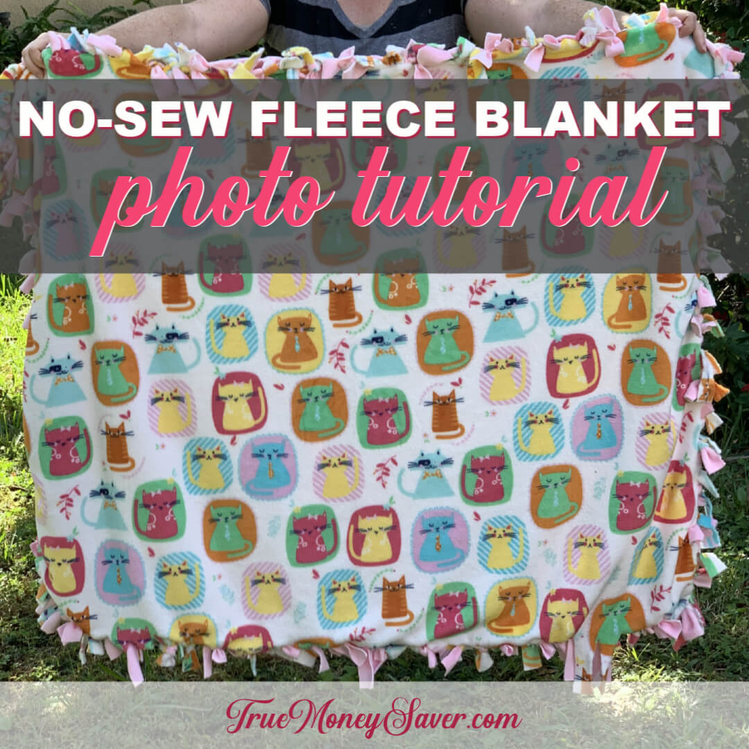 How To Make The Best No-Sew Custom Fleece Blanket – Photo Tutorial