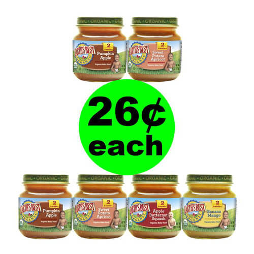 Publix Deal: ? 26¢ Earth's Best Organic Baby Food Jars (Save 78% Off)! (11/28-12/4 or 11/29-12/5)