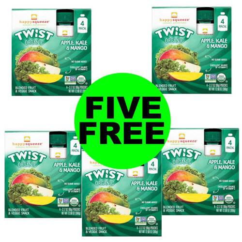 Publix Money Maker: ? New Q – Print For 5 FREE + $1.50 Money Maker Happy Squeeze Pouches (After Ibotta)! (Ends 8/31)