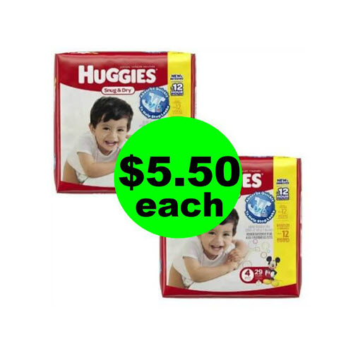 CVS Deal: ??$5.50 Huggies Diapers!  (8/5-8/11)