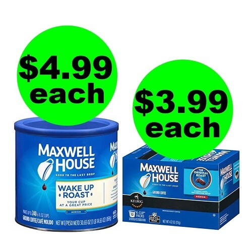 CVS Deal: ☕ $3.99 Maxwell House Coffee K-Cups Or $4.99 Canisters! (12/23-12/29)