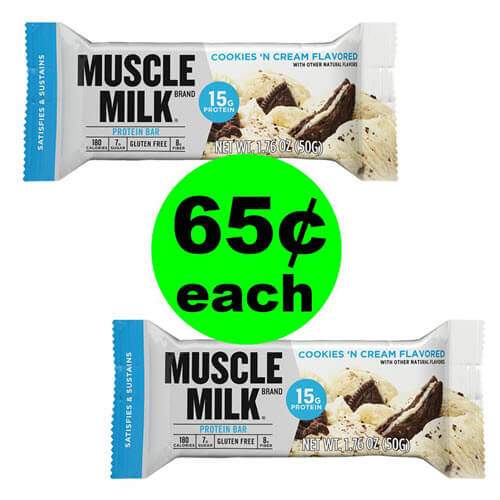 CVS Deal: ? Print For 65¢ Muscle Milk Bars (Save 70% Off)! (Ends 9/29)